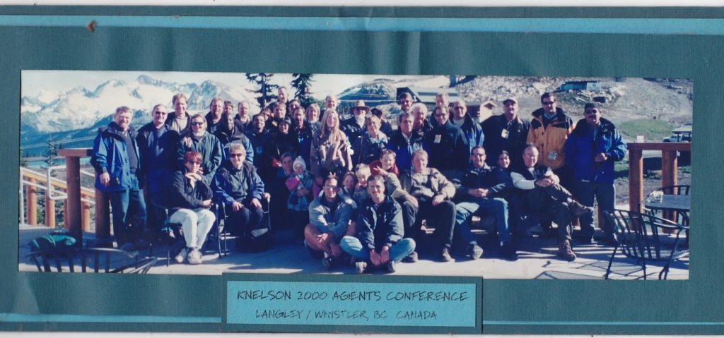 Knelson Concentrators agents conference, held in Canada, 2000 (Byron Knelson back centre)